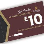 St Austell Brewery £10.00 voucher