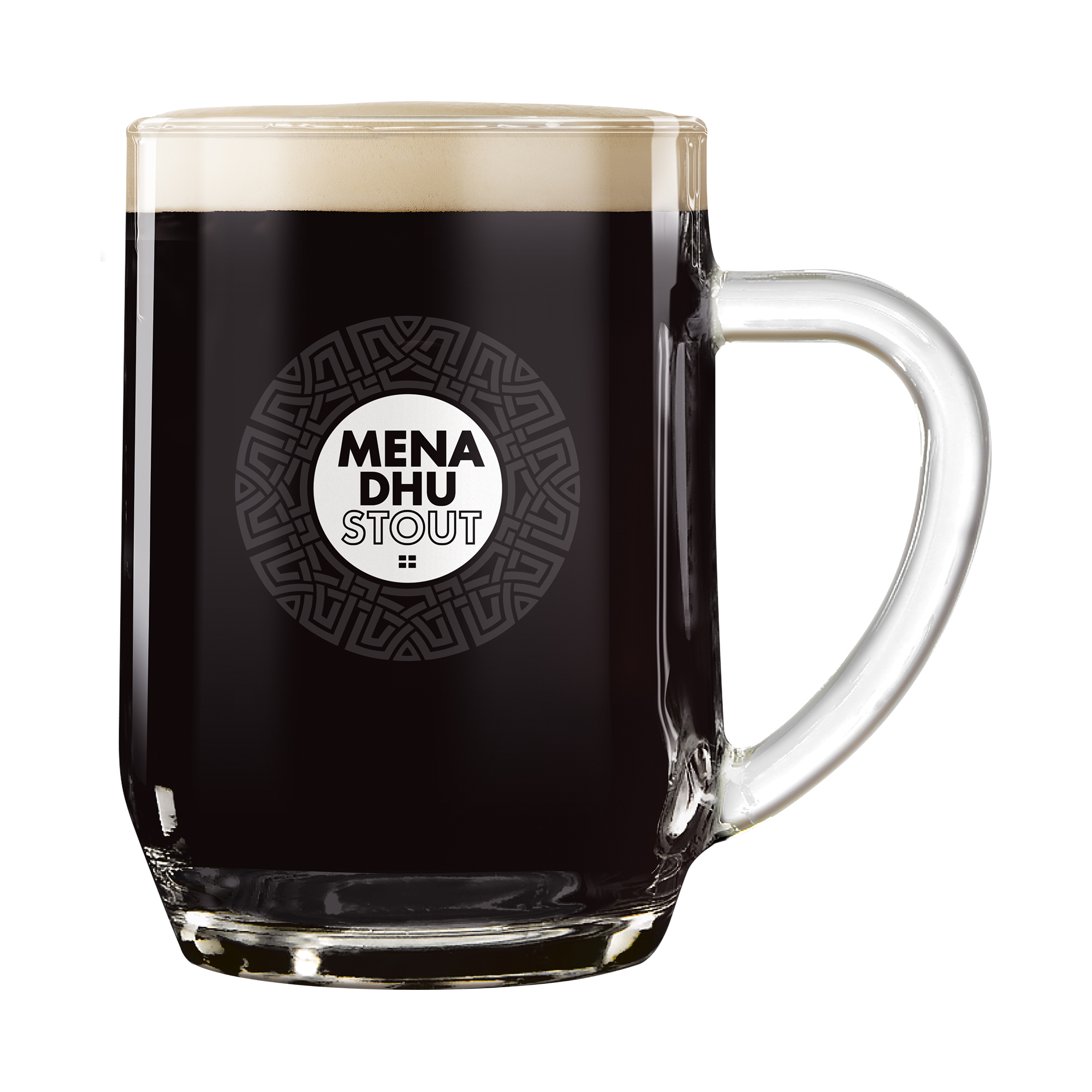 Mena Dhu Cornish Stout Pint Glass