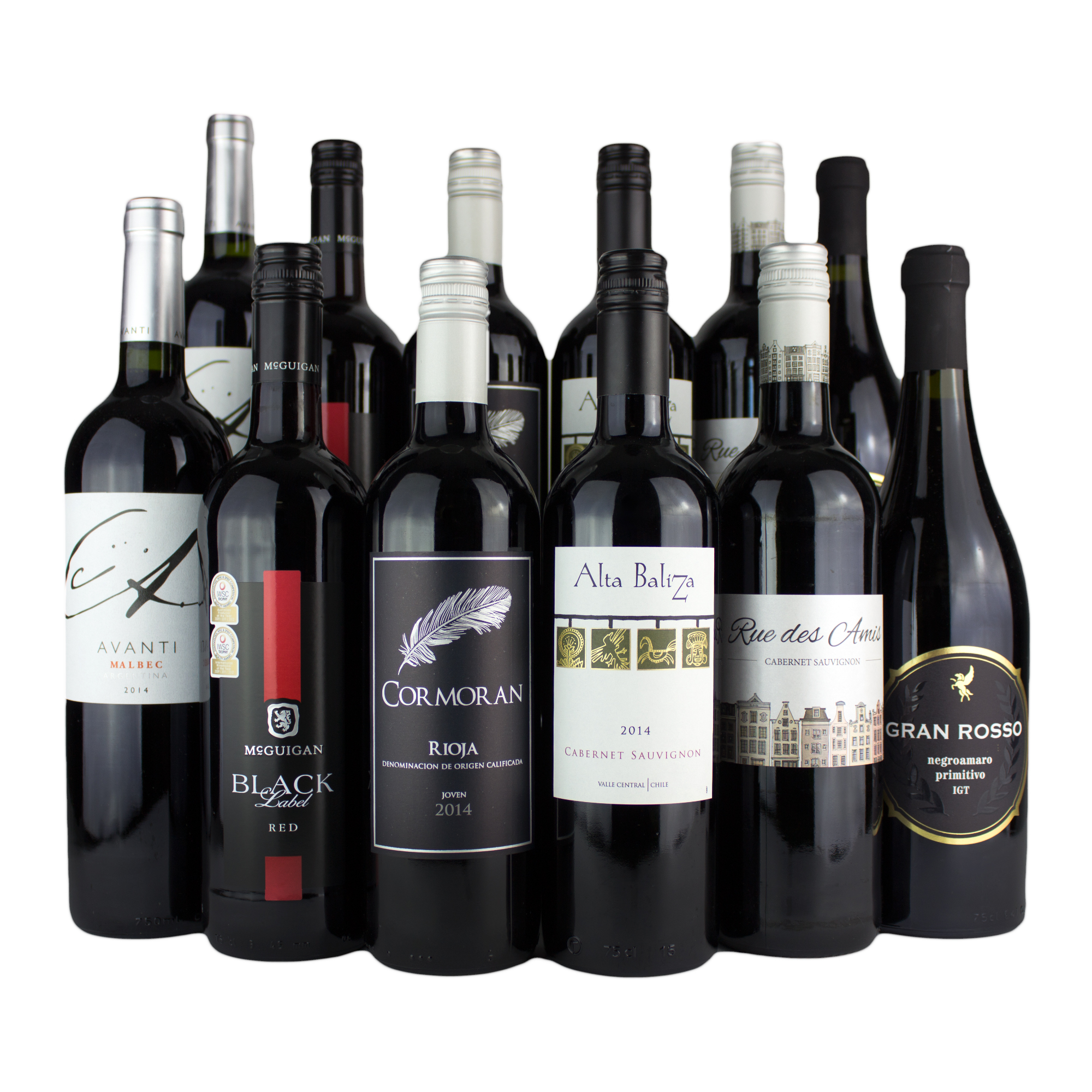 12 Bottle Red Wine Mixed Case