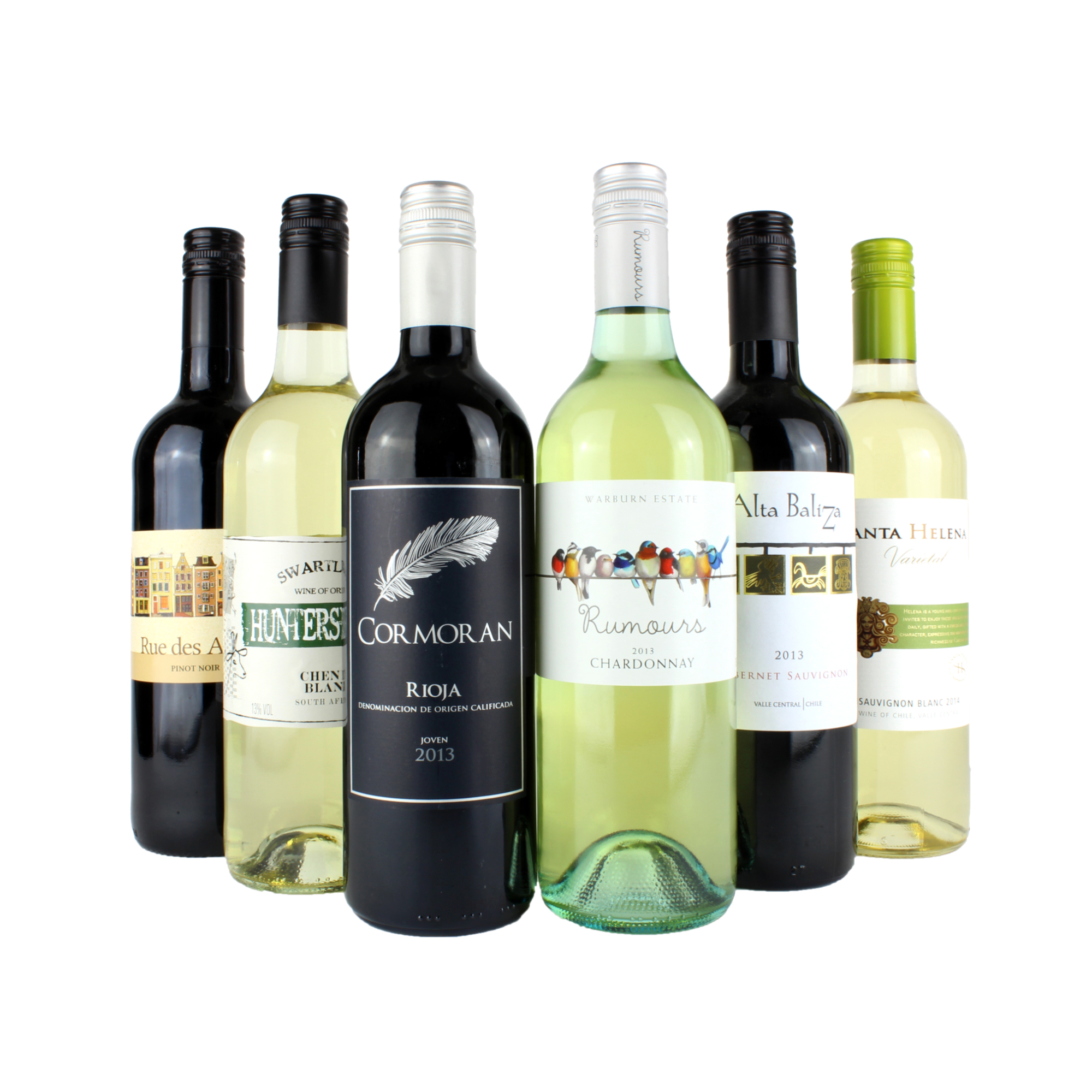6 Bottle Red and White Wine Mixed Case