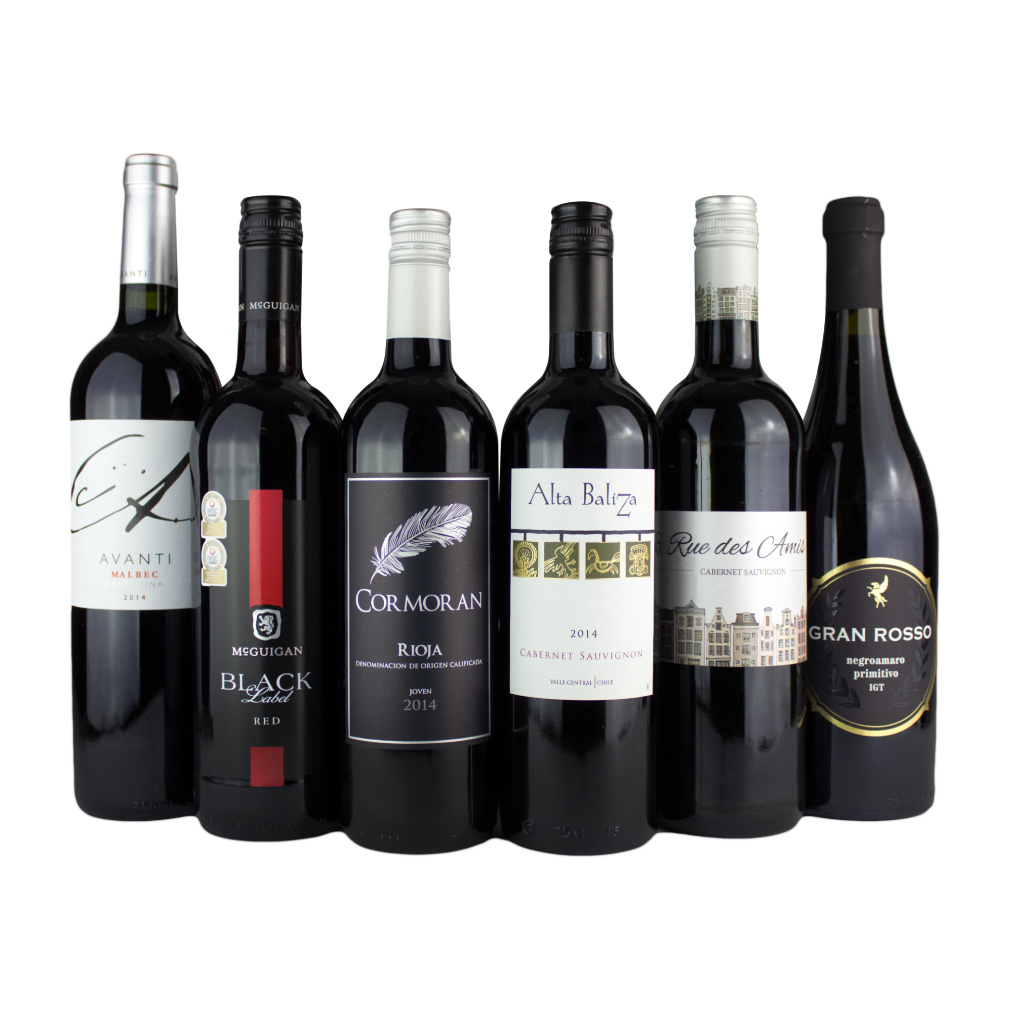 6 Bottle Red Wine Mixed Case