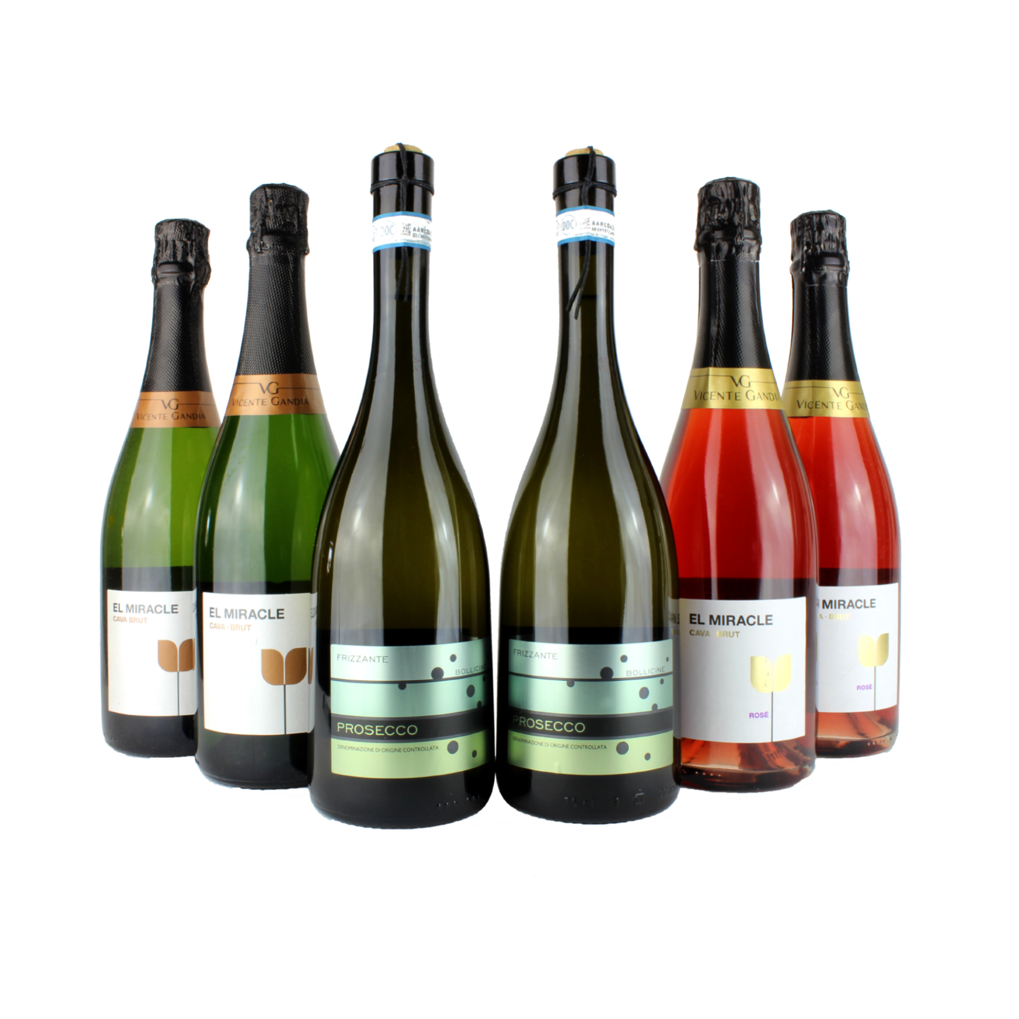 6 Bottle Sparkling Wine Mixed Case