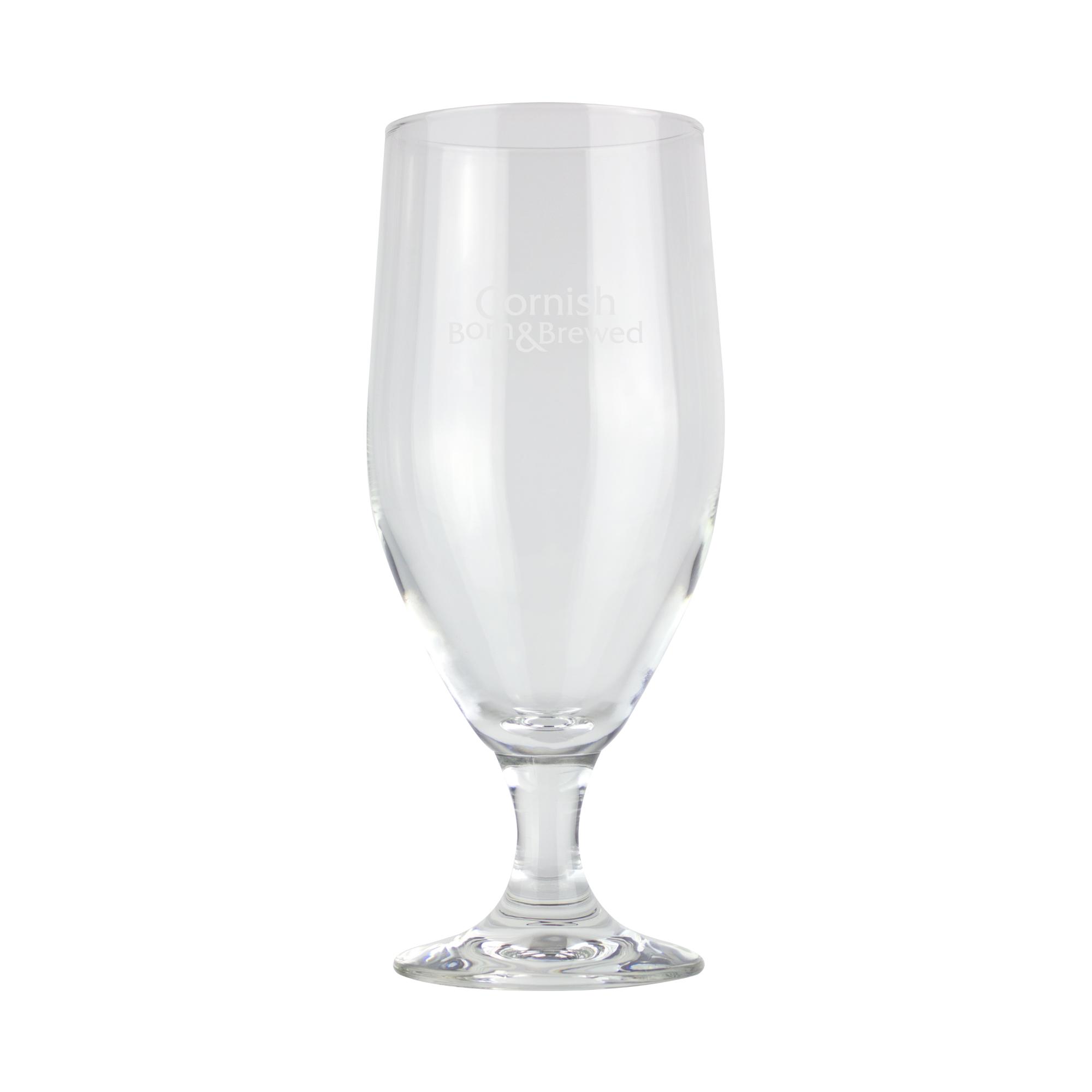 St Austell Brewery Stemmed Glass