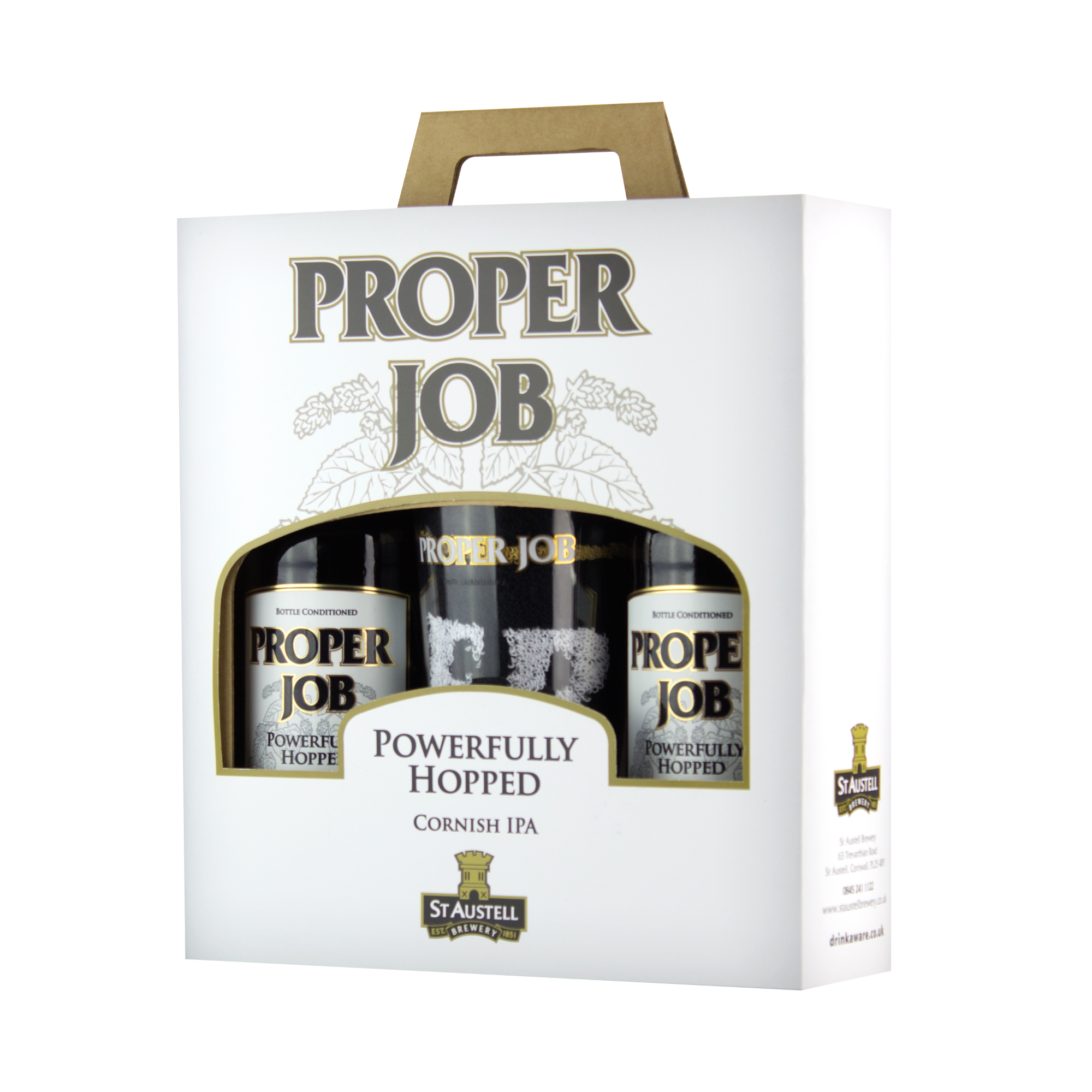 Proper Job Bottle and Glass Gift Pack