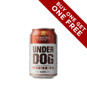 Buy one get one free: Underdog Session IPA (12 x 330ml cans)