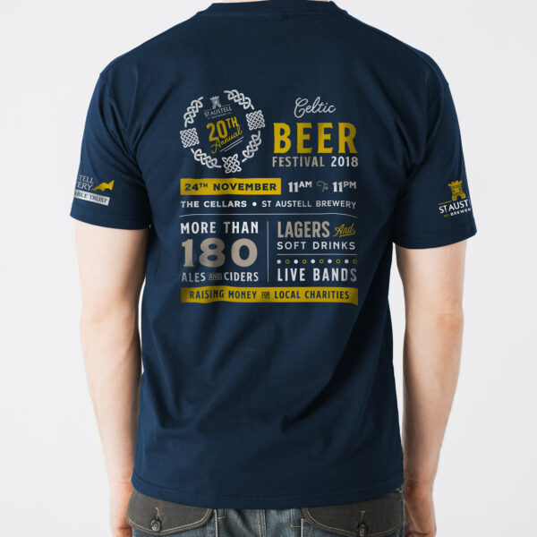 St Austell Brewery Celtic Beer Festival 2018 T-shirt