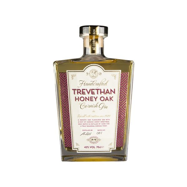 Trevethan honey oak Cornish gin