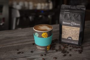 Brewer & Bean Coffee and Bamboo cup