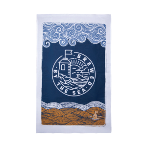 Brewed by the Sea Tea Towel