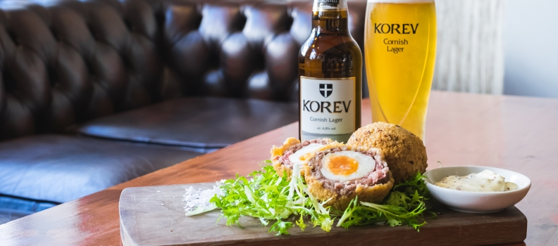 Hog's Pudding Scotch Egg with Tribute Ale Mustard