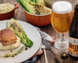 Jack Stein's Roast Pork Belly with Sayzon Farm House Ale