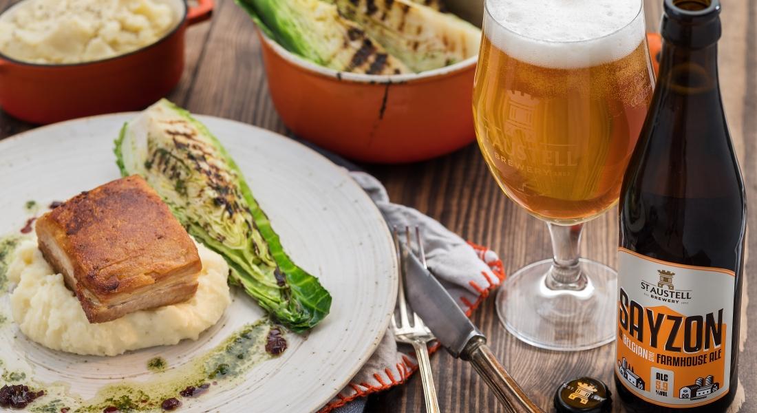 Jack Stein's Roast Pork Belly with Sayzon Farm House Ale