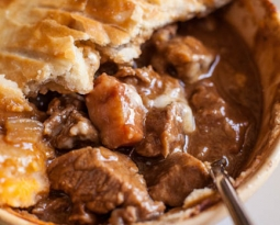 Cornish Steak and Mena Dhu Stout Pie